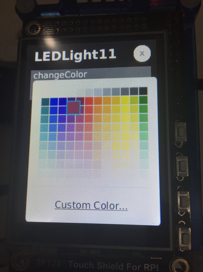 LED light screen with color picker